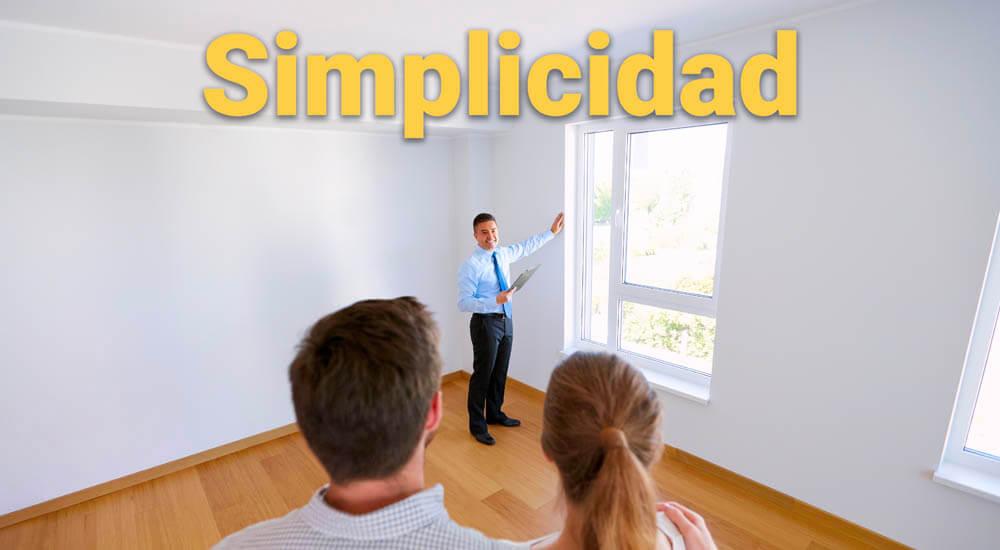 simplicidad al contratar un agente inmobiliario