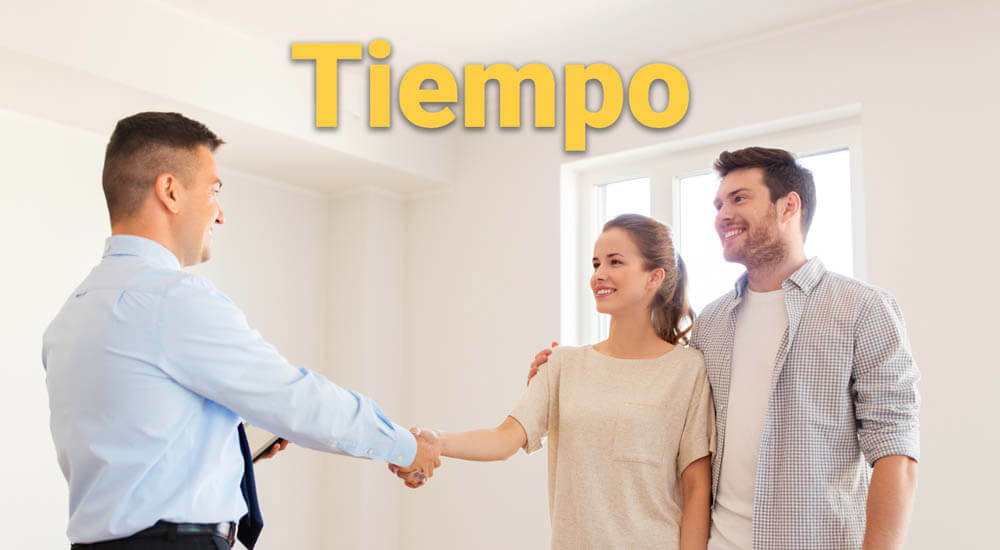 contratar agente inmobiliario tiempo